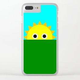 Shy Sun Clear iPhone Case
