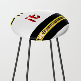 Zip it Black Yellow Red jGibney The MUSEUM Gifts Counter Stool