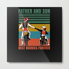Father Gift Idea Motorcycle Metal Print
