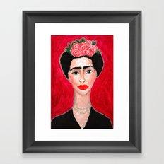 Frida Portrait Framed Art Print