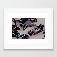 kris tate Framed Art Prints featuring TATE by Misfortuneee