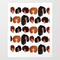 Natural Hair Girls Art Print