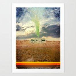 Breaking Walter Caravan cooking Art Print