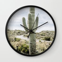 Arizona Cactus Wall Clock