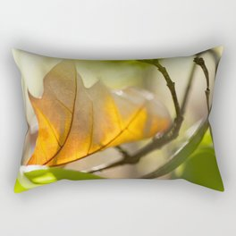 Winter leaf in the wind Rectangular Pillow
