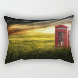 Now home to the red telephone box Rectangular Pillow