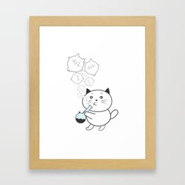 Smoke Cat not War Framed Art Print
