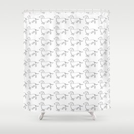Doxie Love - White Shower Curtain