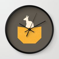 kangaroo Wall Clocks featuring Kangaroo by Marg