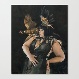 Feather's Fate Canvas Print