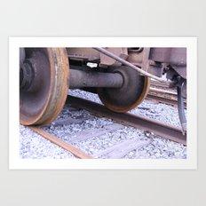 Wheels on the Track Art Print