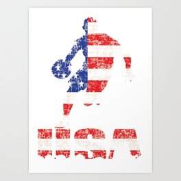 USA Basketball logo Art Print