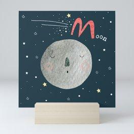M is for Moon Mini Art Print