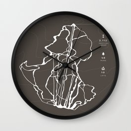 Wildcat Mountain - Ski Trail Map, New Hampshire Wall Clock
