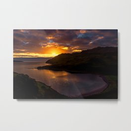 Camas nan Geall Sunset Ardnamurchan Scotland Metal Print