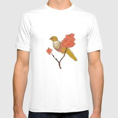 sur la branche SMALL White Mens Fitted Tee