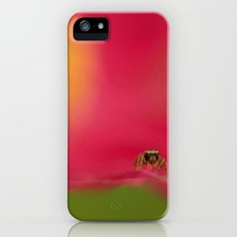 Jumping Spider In The Garden... iPhone Case