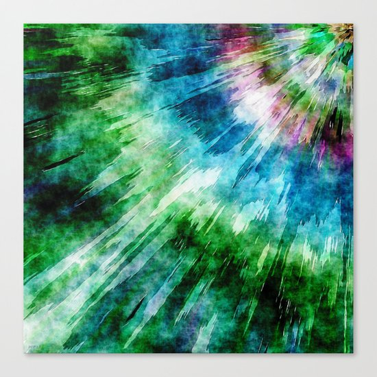 Abstract Grunge Tie Dye Canvas Print