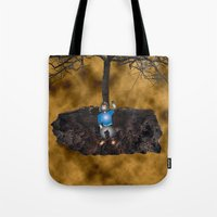 book cover Tote Bags featuring Book Cover Illustration by Conceptualized