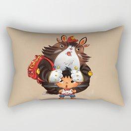 Bag Raccoon Monster Rectangular Pillow