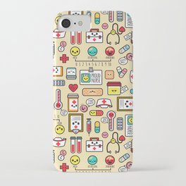"""""""Proud To Be A Nurse"""" Pattern iPhone Case"""