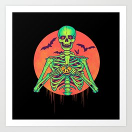 I Love Halloween Art Print