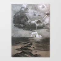 moby dick Canvas Prints featuring Moby Dick by Melisa Keyes