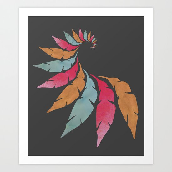 The Feathers Art Print