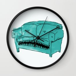 Hungry Couch Wall Clock