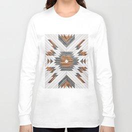 Urban Tribal Pattern No.8 - Aztec - Wood Long Sleeve T-shirt