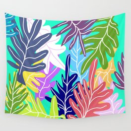 Leafs design spring Wall Tapestry