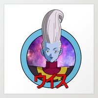 dbz Art Prints featuring DBZ - Whis by itsjustmilk