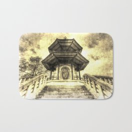 The Pagoda Battersea Park London Vintage Bath Mat