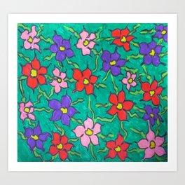 Sweet Floral Garden Art Print