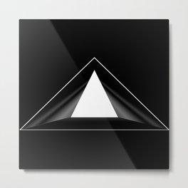 Abstraction 013 - Minimal Geometric Triangle Metal Print