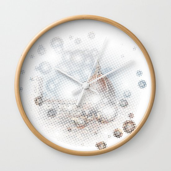 rain drops on Florence Wall Clock