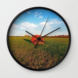 Pumpkin Hay Bale Wall Clock