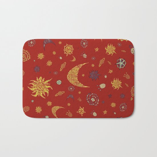 Christmas Space Pattern Bath Mat