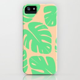 Monstera Leaf Print 3 iPhone Case