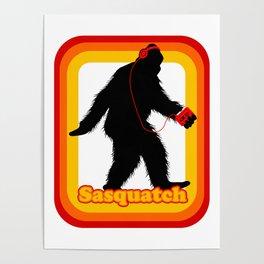 Retro Sasquatch Poster