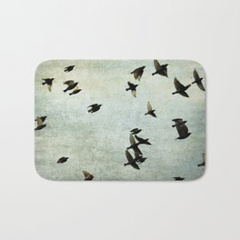 Birds Let's fly Bath Mat