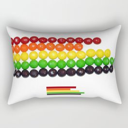 Skittle Stats Rectangular Pillow