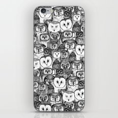 just owls black white iPhone & iPod Skin