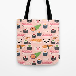 Kawaii sushi light pink Tote Bag