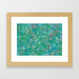 Green abstract Framed Art Print