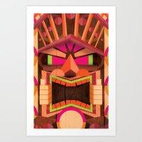 tiki Art Prints featuring Tiki by Cimone Key