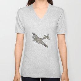 Boeing B-17 Flying Fortress airplane Unisex V-Neck