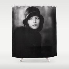 Greta Garbo, Hollywood Starlet black and white photograph / black and white photography Shower Curtain