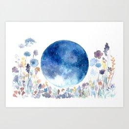 Moonlit Garden Kunstdrucke