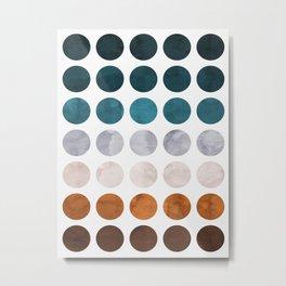 Colorful watercolor circles Metal Print